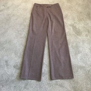 Ann Taylor wool/Lycra striped lined career pants